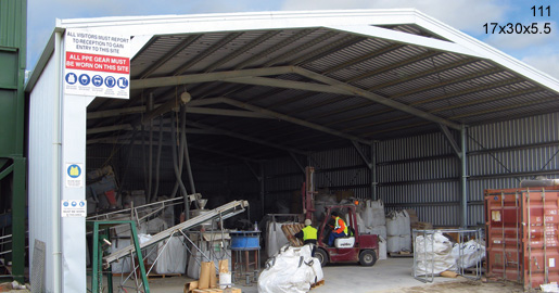Delicieux 111   17x30x5.5 Industrial Shed | Commercial Shed | Storage Shed | Workshops