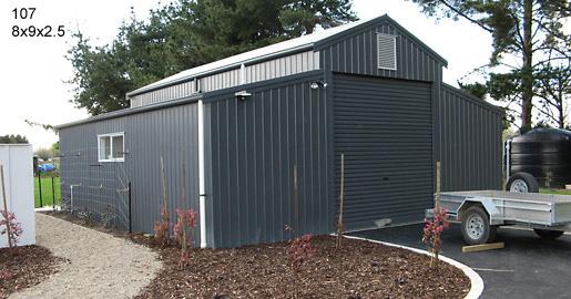 107 - 8x9x2.5 Lifestyle Shed |Storage Sheds |Garage Sheds |Horse Sheds |Car Shed |Workshop |Steel Sheds